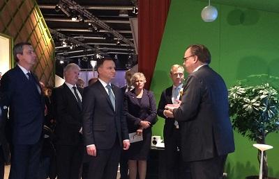Prezydent Andrzej Duda z wizytą w siedzibie Ericsson w Sztokholmie