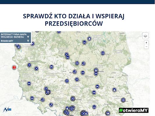 #otwieraMY – Interaktywna mapa wolnego biznesu