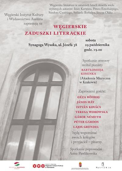 Węgierskie Zaduszki Literackie w Krakowie