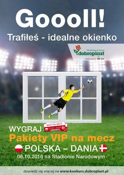 Kibicuj z Dobroplast i wygraj bilet na mecz Polska-Dania!