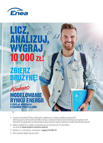 10 tysięcy złotych dla najlepszych studentów od Enei