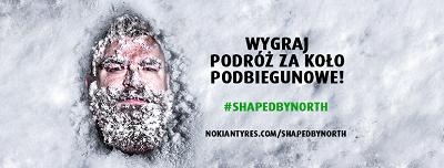 Odciśnij swoją twarz w śniegu i wyjedź za koło podbiegunowe
