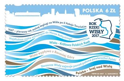 """Poczta Polska wydała znaczek """"Rok Rzeki Wisły"""""""