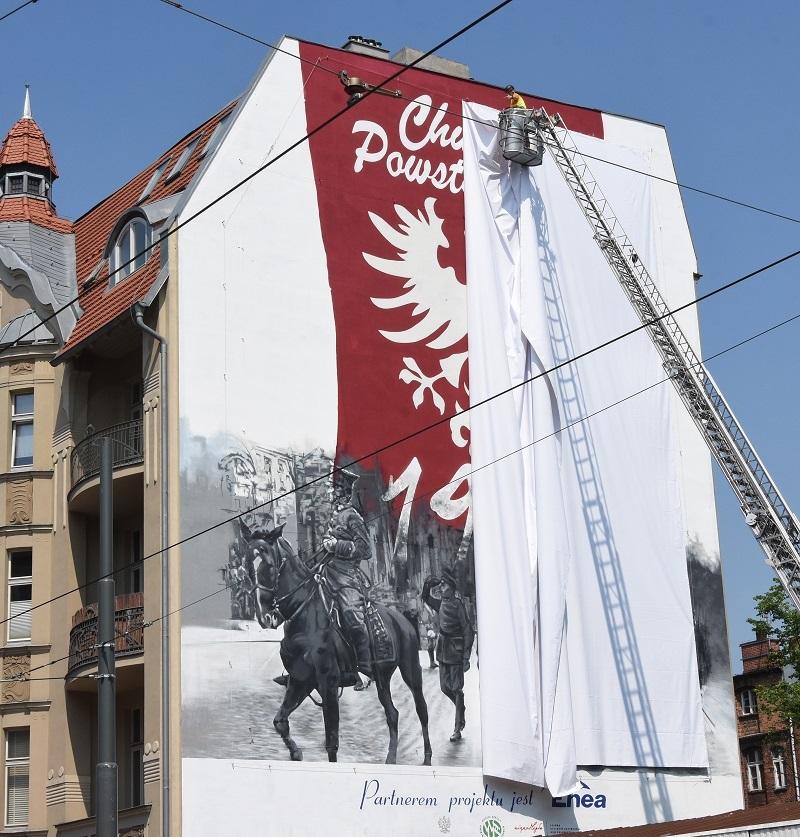 Poznań z nowym muralem na 100-lecie odzyskania niepodległości