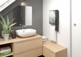 Grzejnik z lustrem do małej łazienki