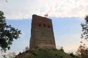 Ruiny Zamku Melsztyn z dziećmi