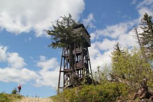 Gorc z przełęczy Wierch Młynne z dziećmi