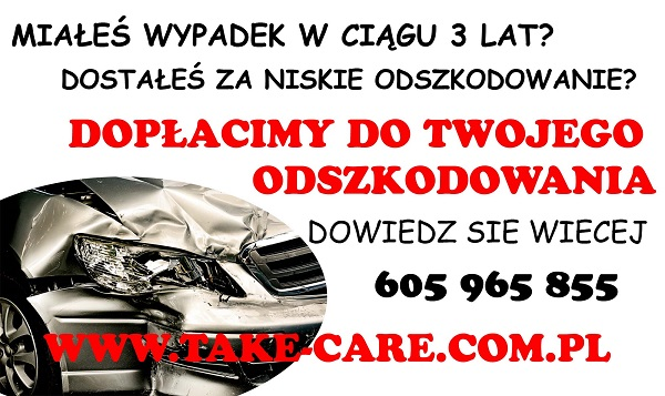 Take Care Polska - dopłaty do odszkodowań